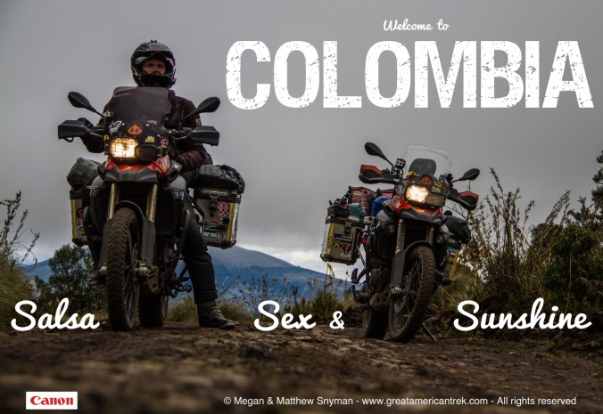 Matthew Snyman, Sex, Sunshine, Salsa, Colombia, Motorcycle, motorbike, bike, riding, offroad, dualsport, Colombia, adventure, travel, dirt, mud, offroad, South America